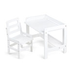 Детский стол и стул растущий (белый)